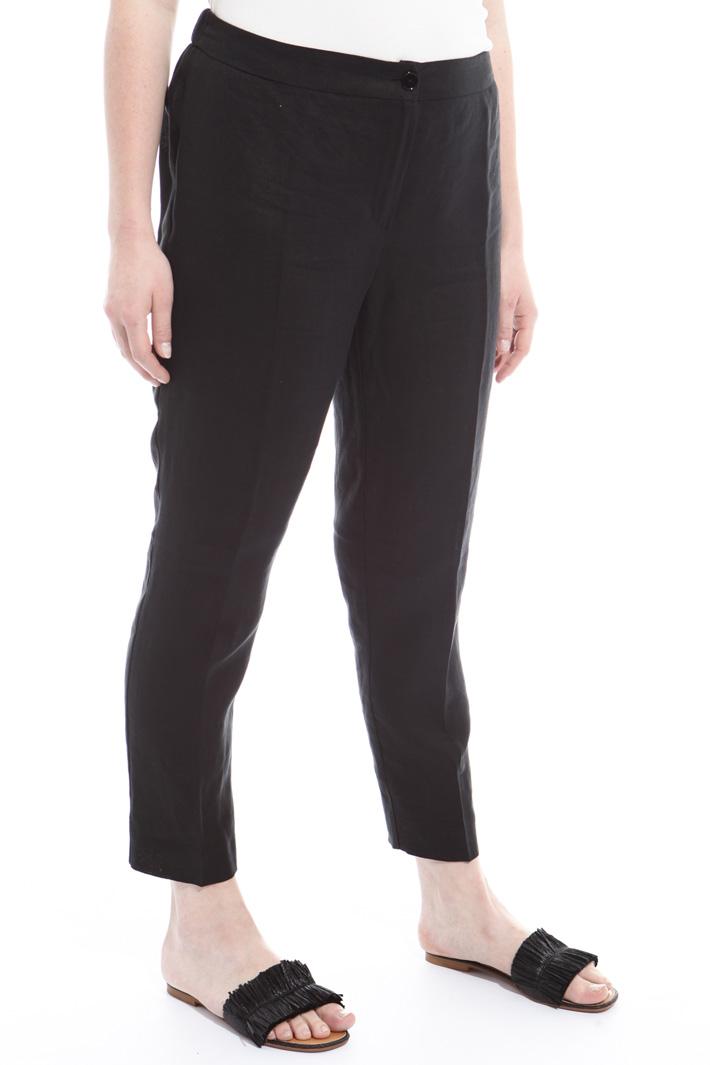 Pantaloni in puro lino Intrend