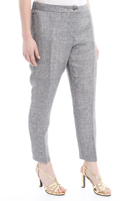 Yarn-dyed linen trousers Intrend