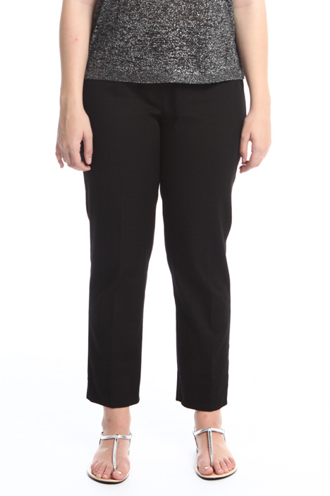 Pantaloni in piquet di cotone Intrend