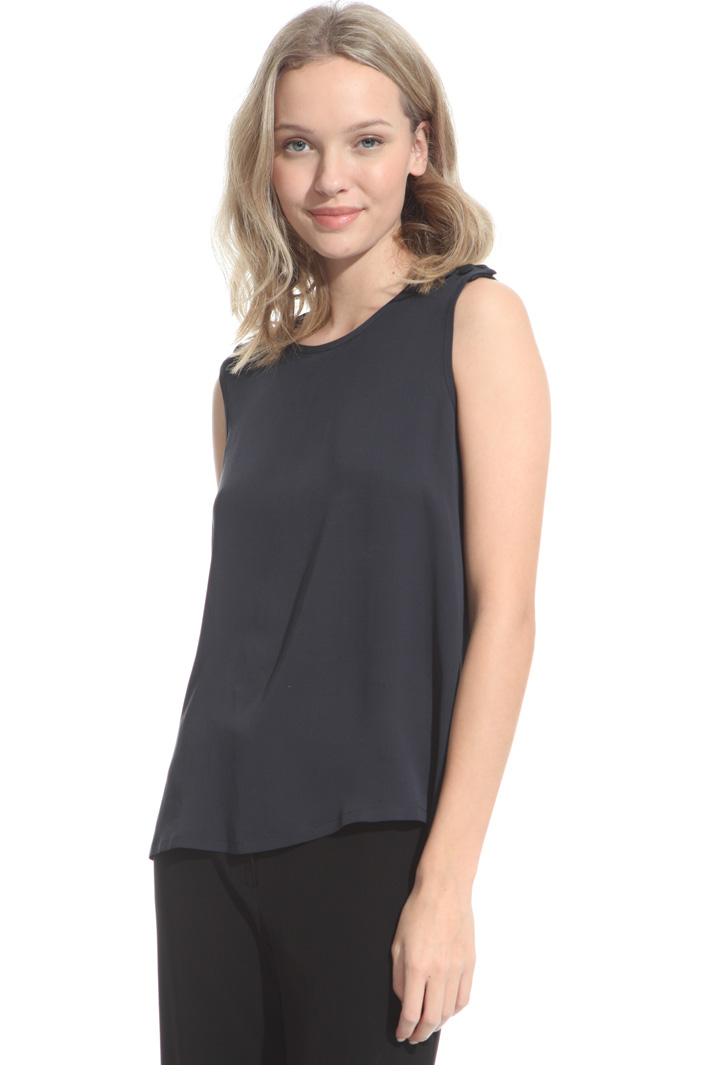 Pure silk top Intrend