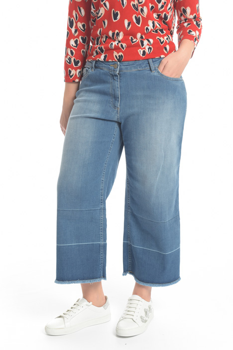 Jeans cropped in denim Intrend