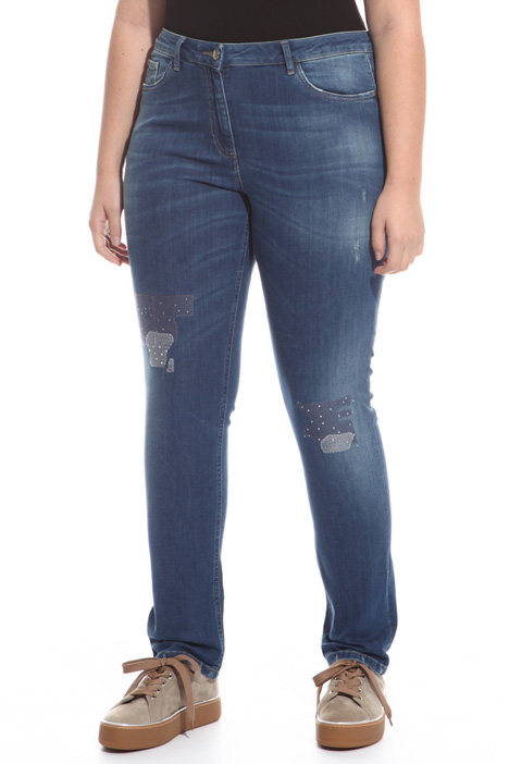 Jeans stretch con strass Intrend