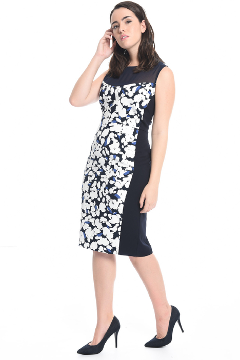 Stretch cady sheath dress Intrend
