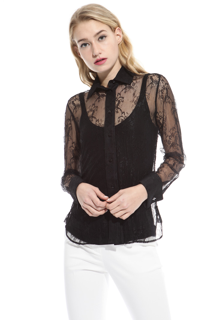 Camicia in pizzo chantilly Intrend