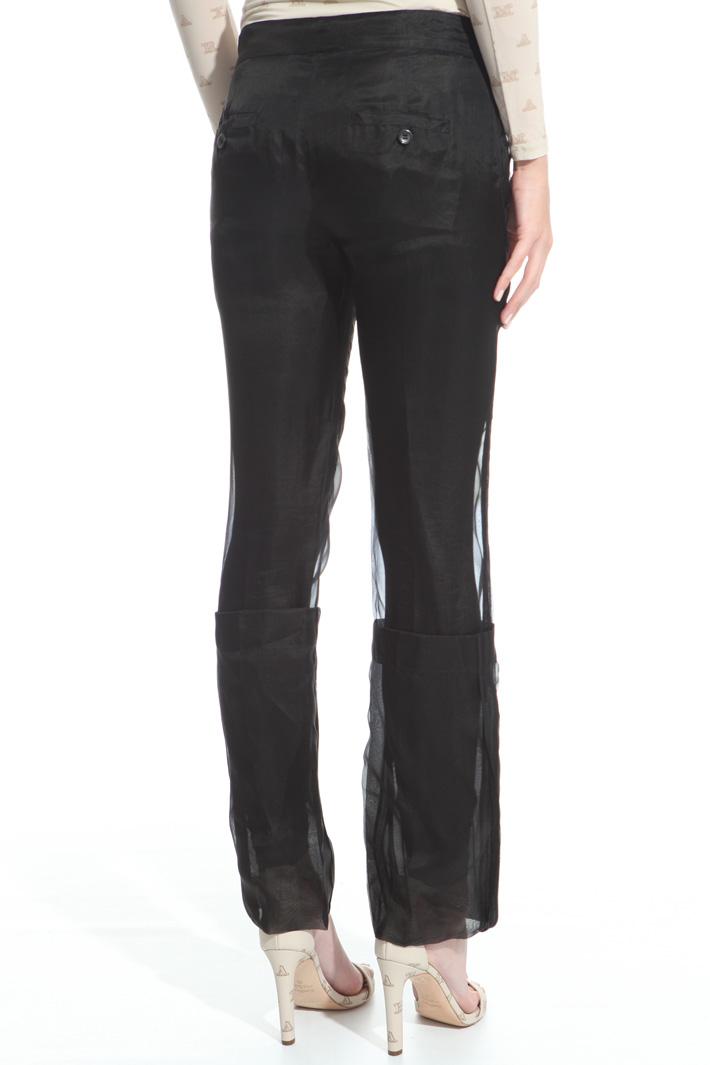 Silk organza trousers Intrend
