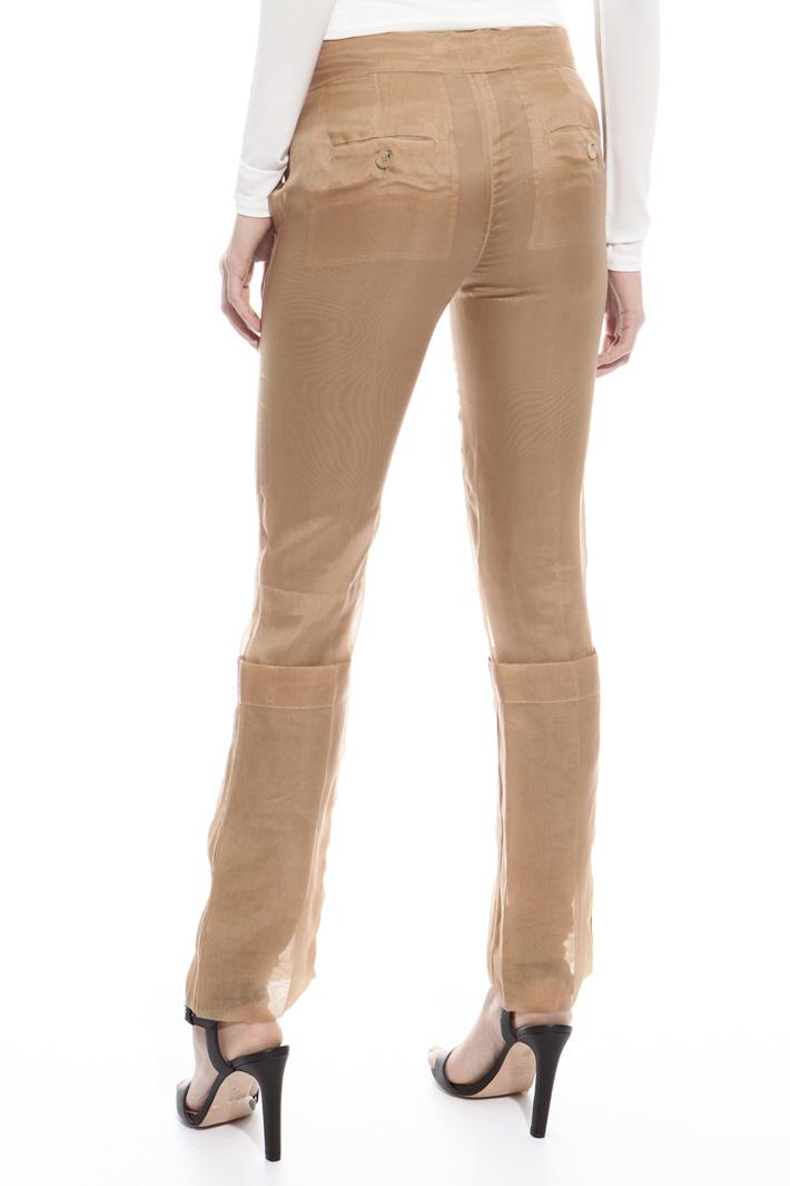 Pantalone in organza di seta Intrend