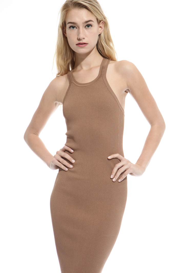 Fitted longuette dress Intrend