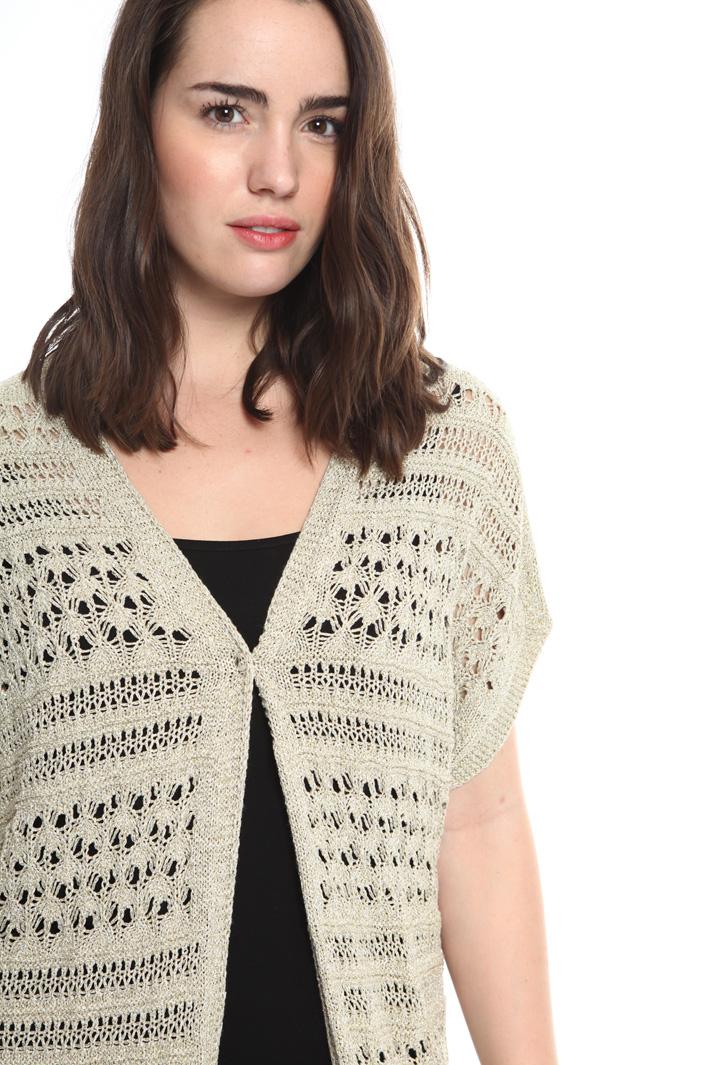 Cardigan crochet lurex Intrend