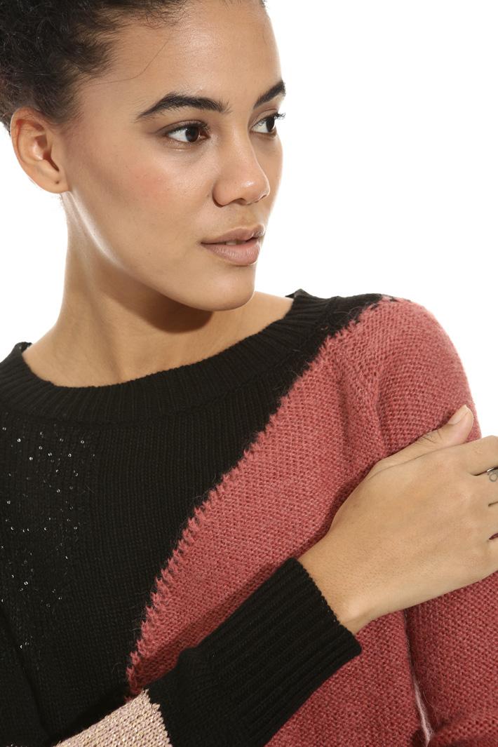 Lurex inlay sweater Intrend