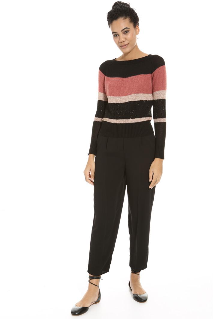 Lurex stripe sweater Intrend