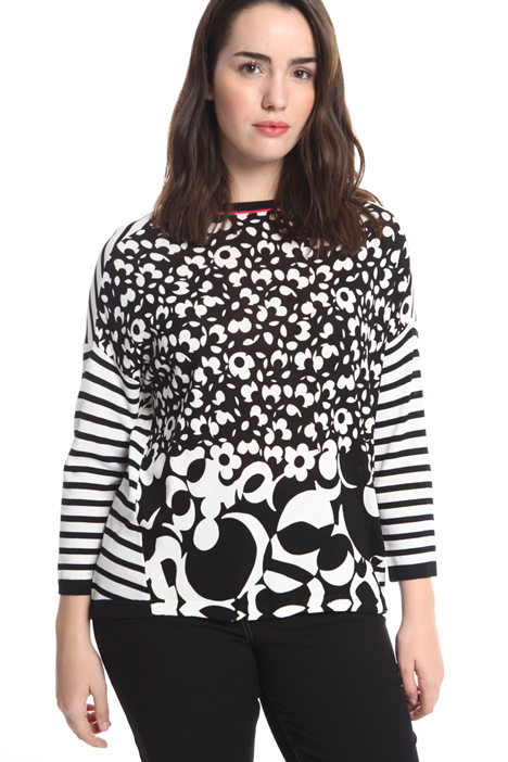 Printed viscose sweater Intrend