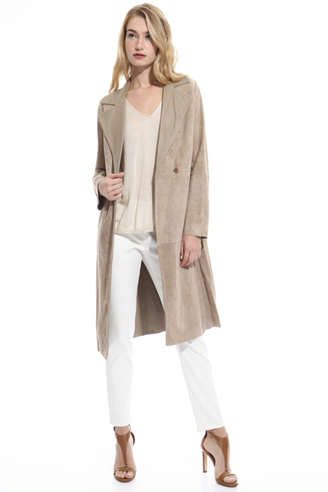 Suede overcoat Intrend