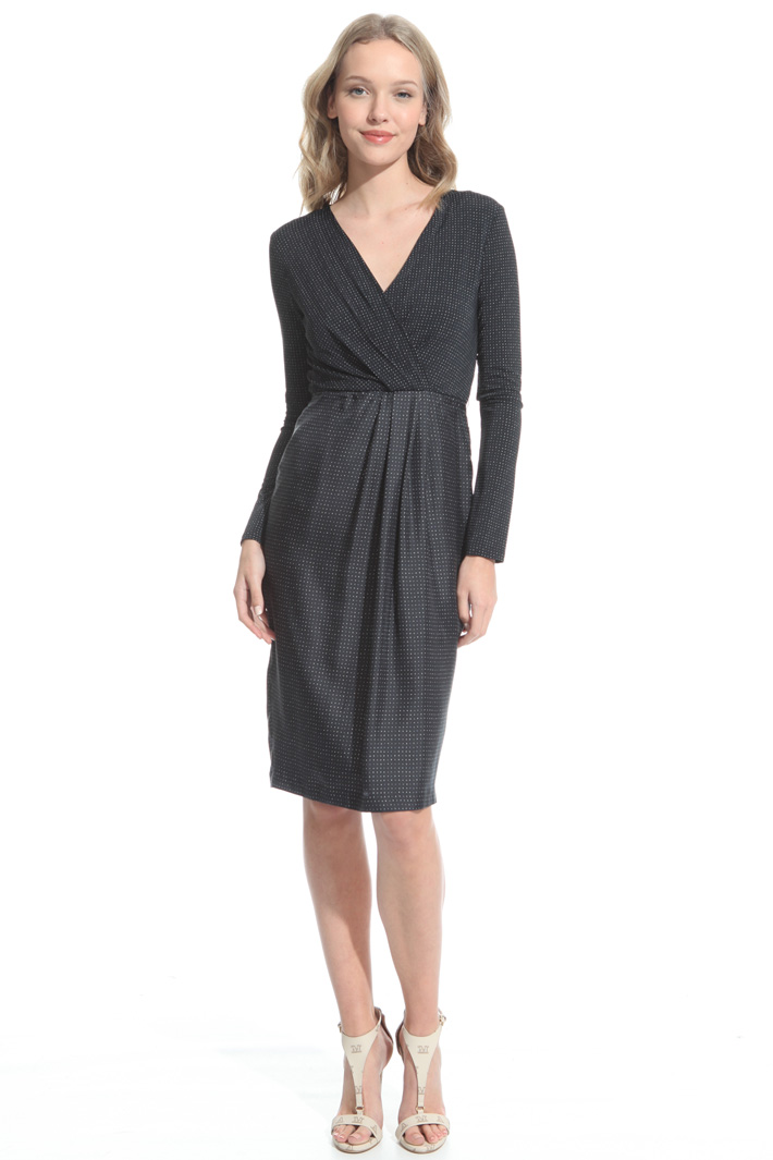Jersey and satin sheath dress Intrend