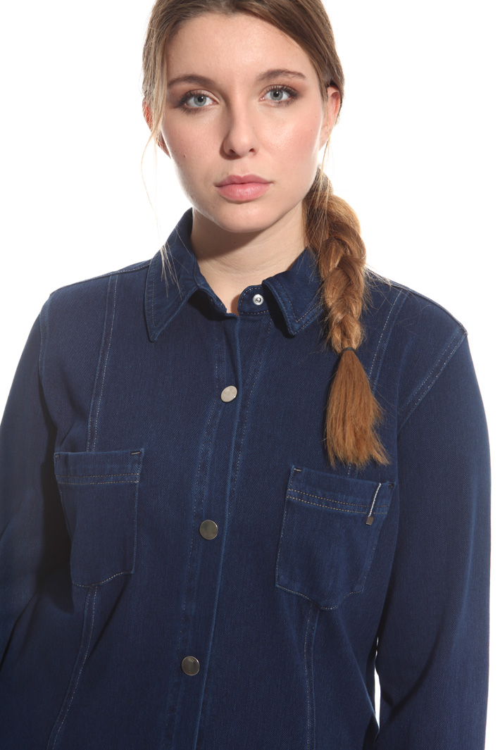 Giacca in jersey denim Intrend