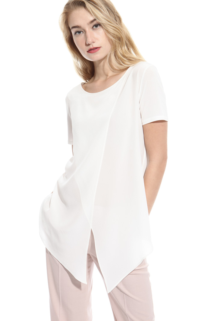 Jersey and crepe top Intrend