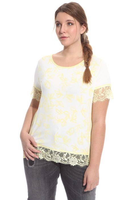 Lace sleeve T-shirt Intrend
