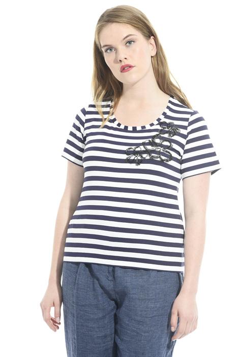 T-Shirt in viscosa stretch Intrend