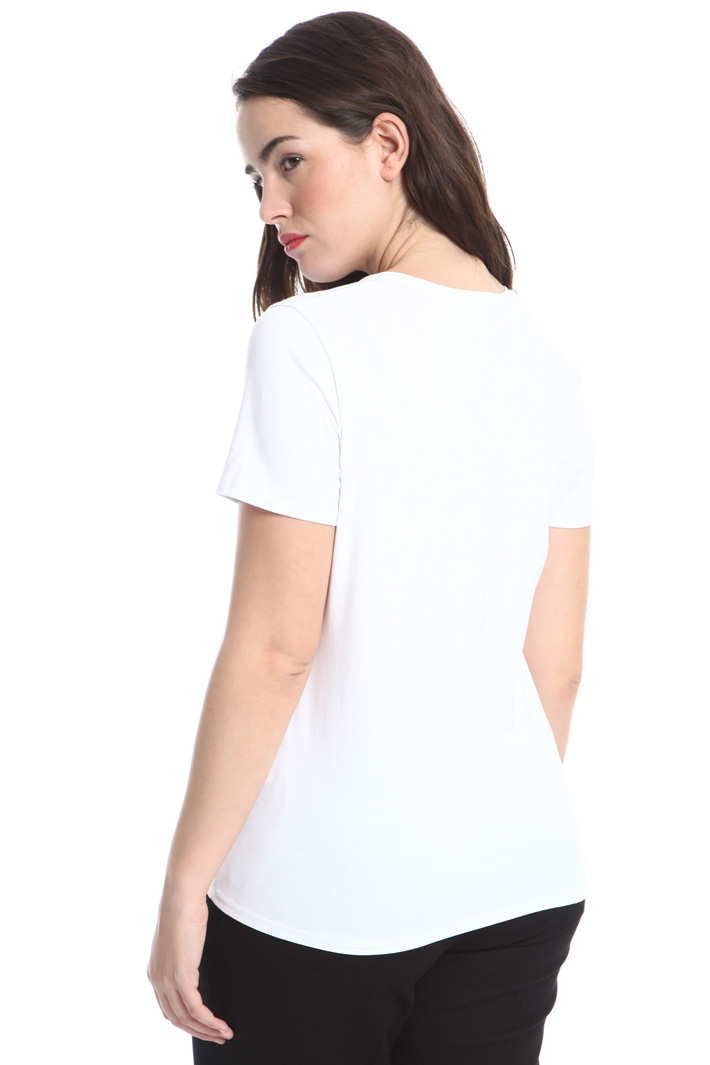 T-shirt con perline ricamate Intrend