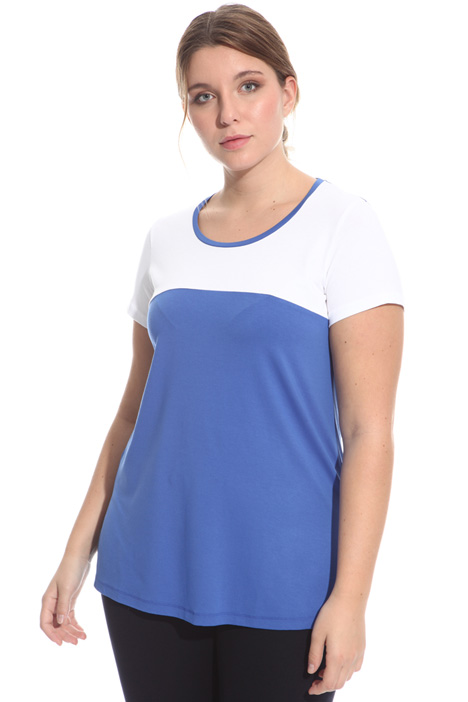 T-shirt in jersey bicolor Intrend