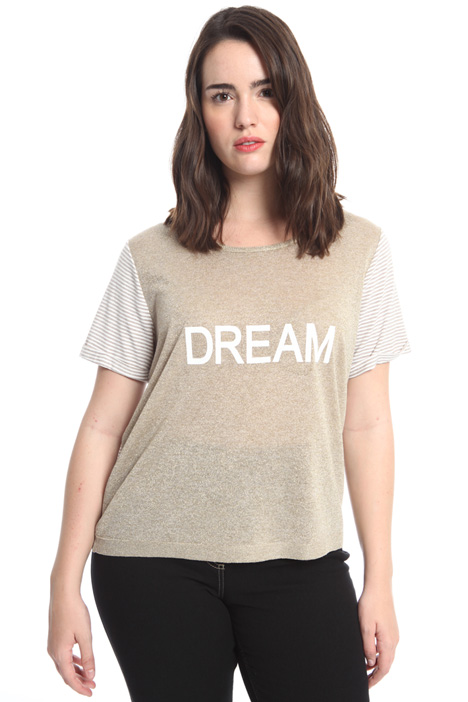 Lurex knit T-shirt Intrend