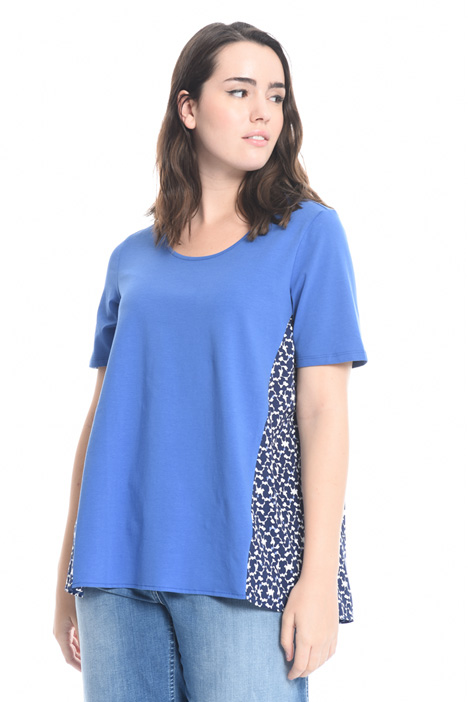 T-shirt with crepe insert Intrend