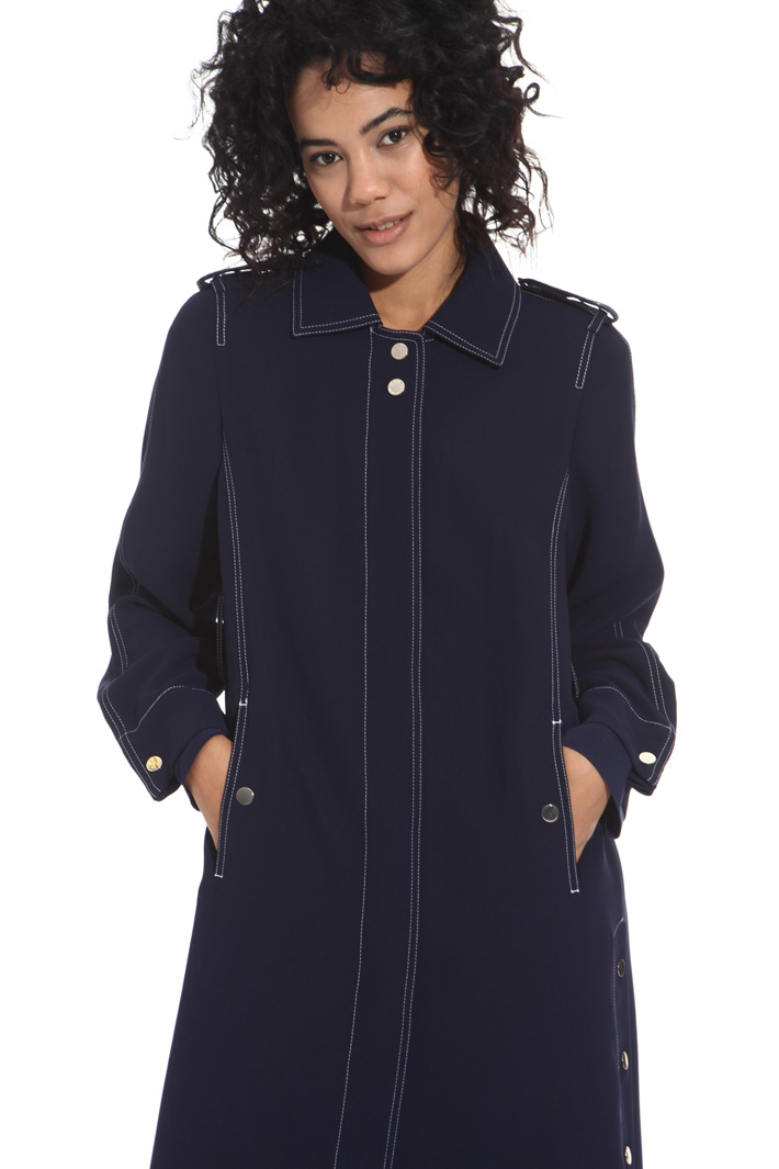 Fluid fabric duster coat Intrend