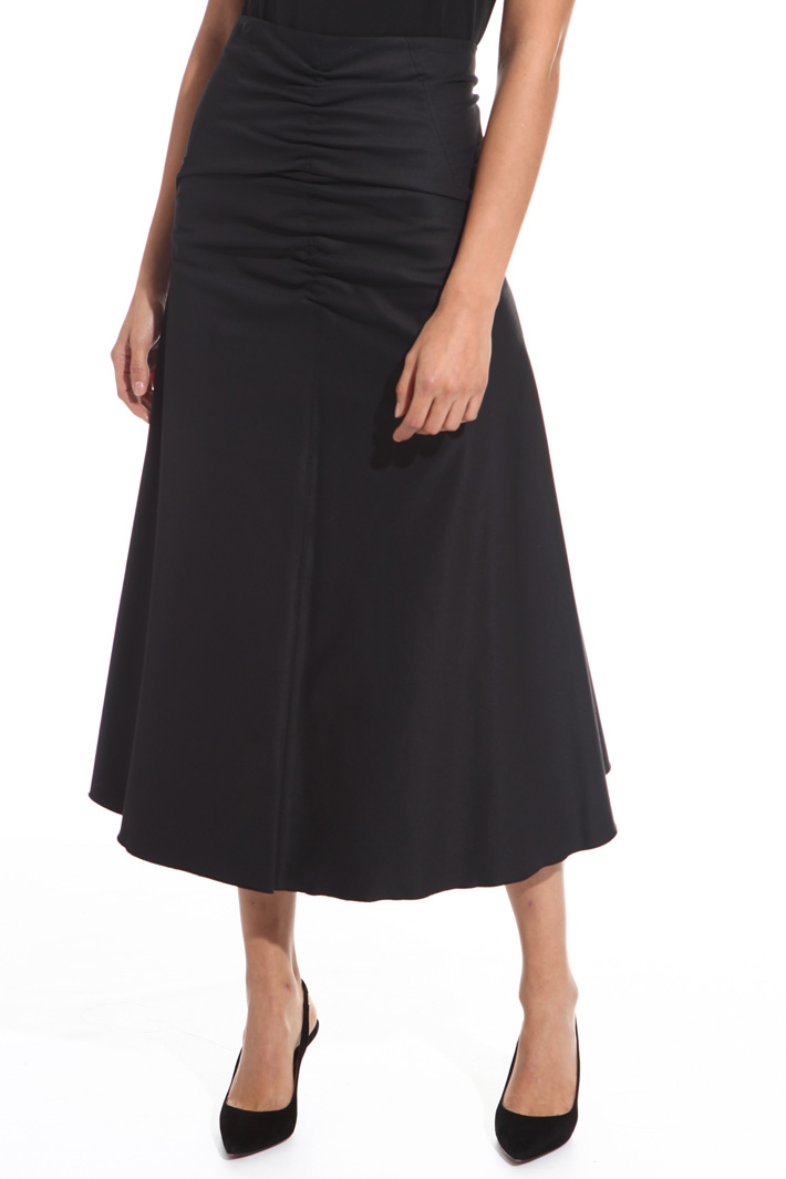 Flared ruched skirt Intrend