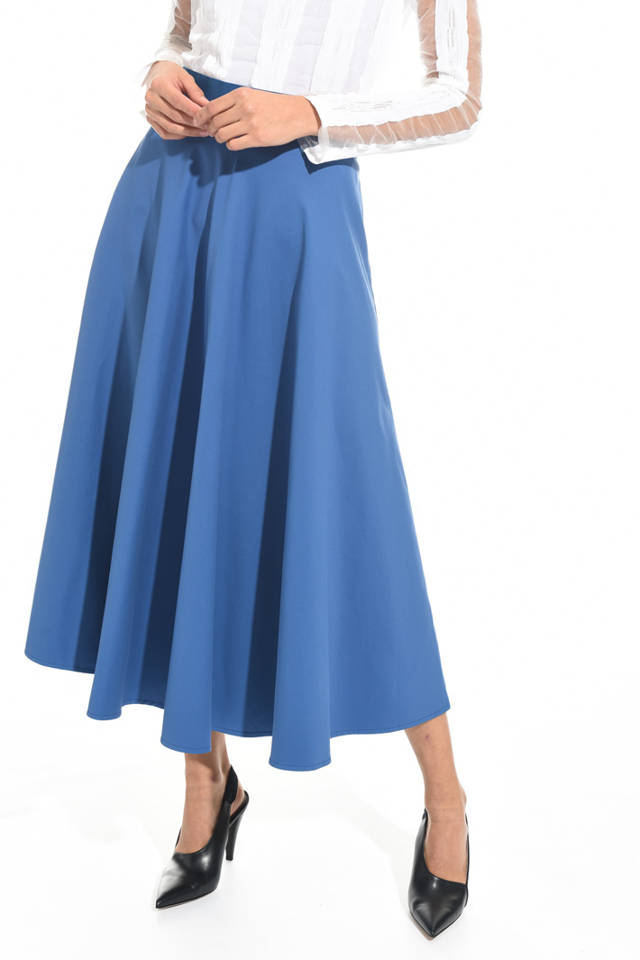 Wide cotton skirt Intrend