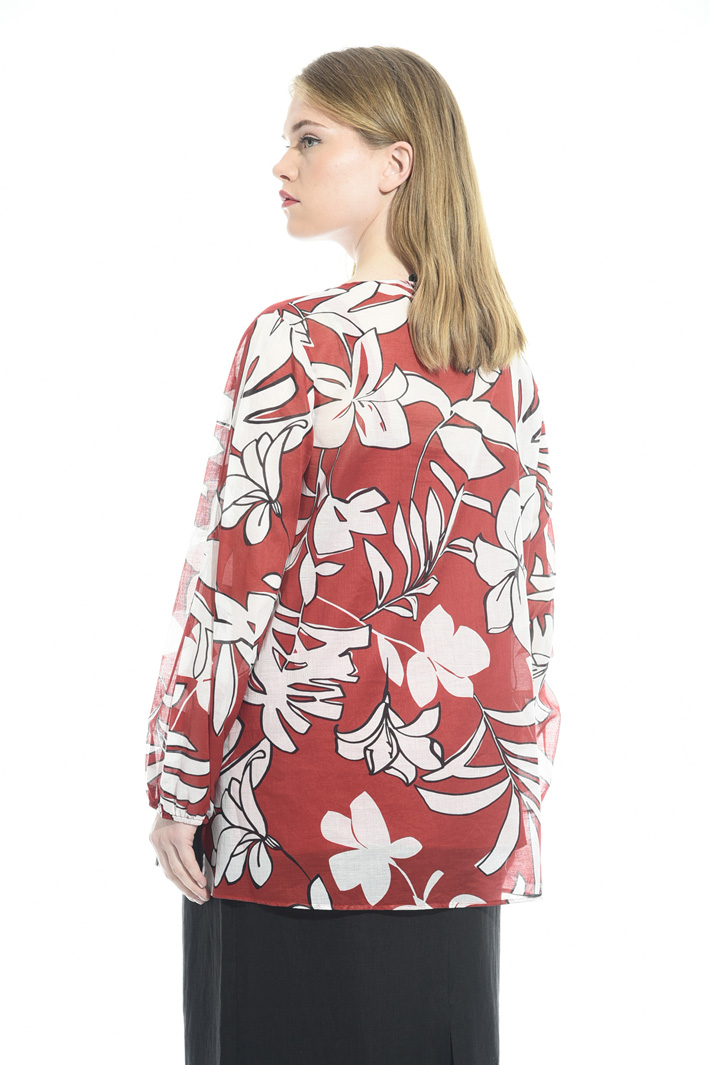 Printed cotton muslin shirt Intrend