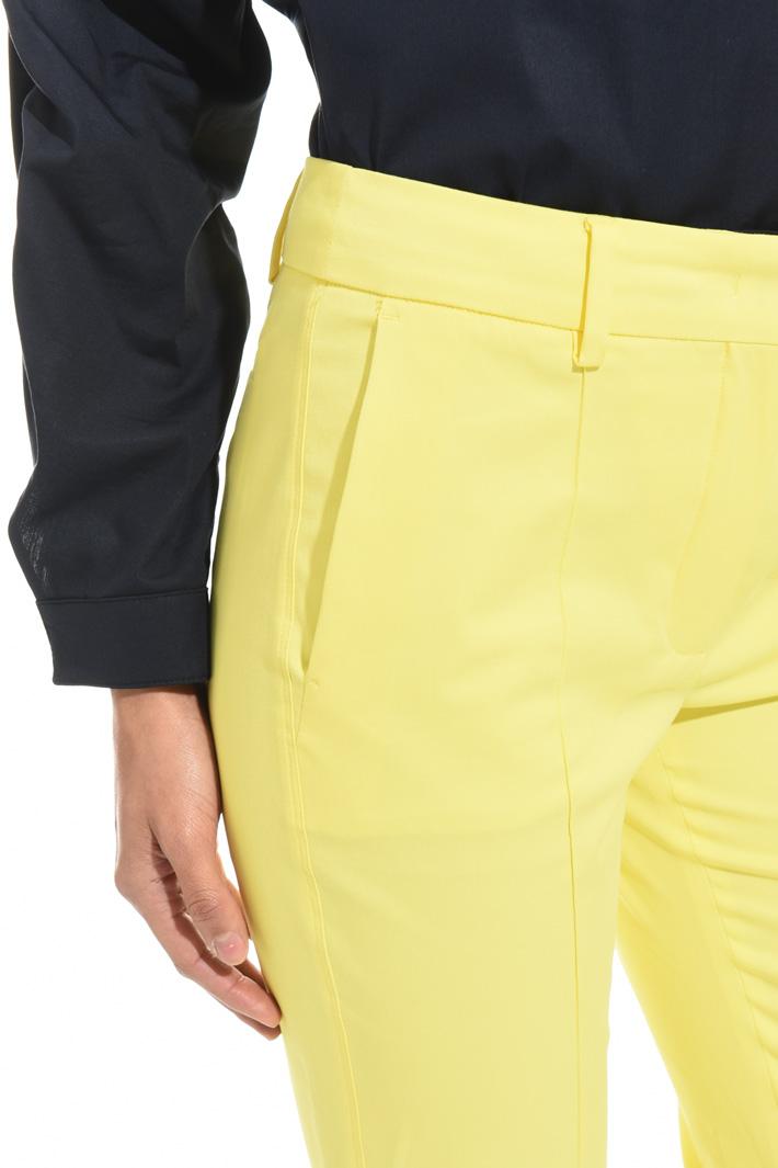 Pantalone flare in gabardina Intrend
