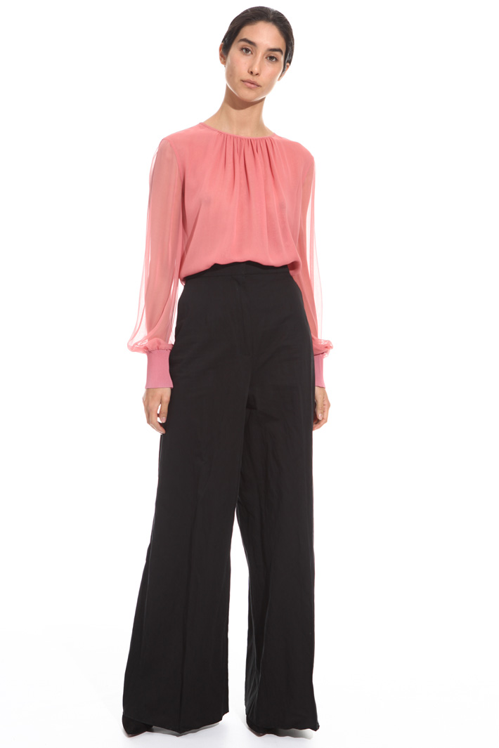 Cotton satin trousers  Intrend