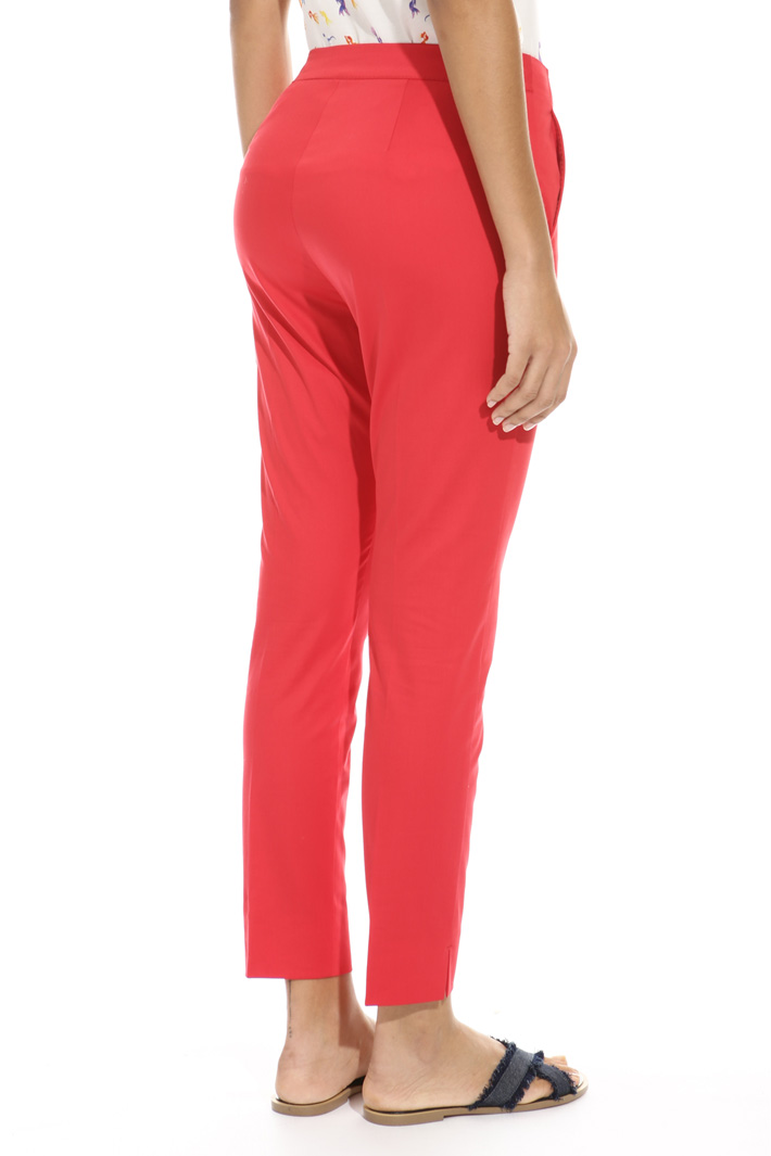Satin cotton trousers Intrend