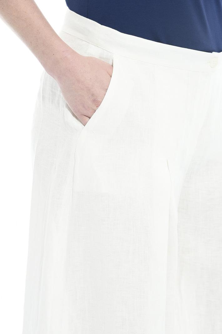 Pantalone in lino con pieghe Intrend