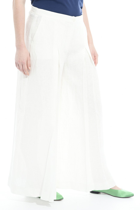 Pleated linen trousers Intrend