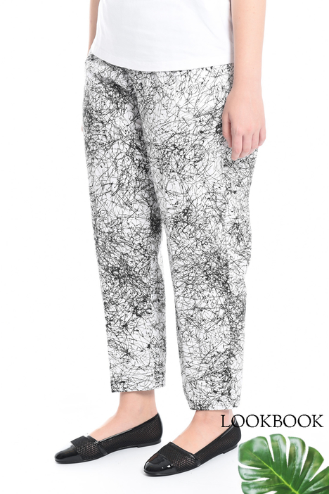 Printed poplin trousers Intrend