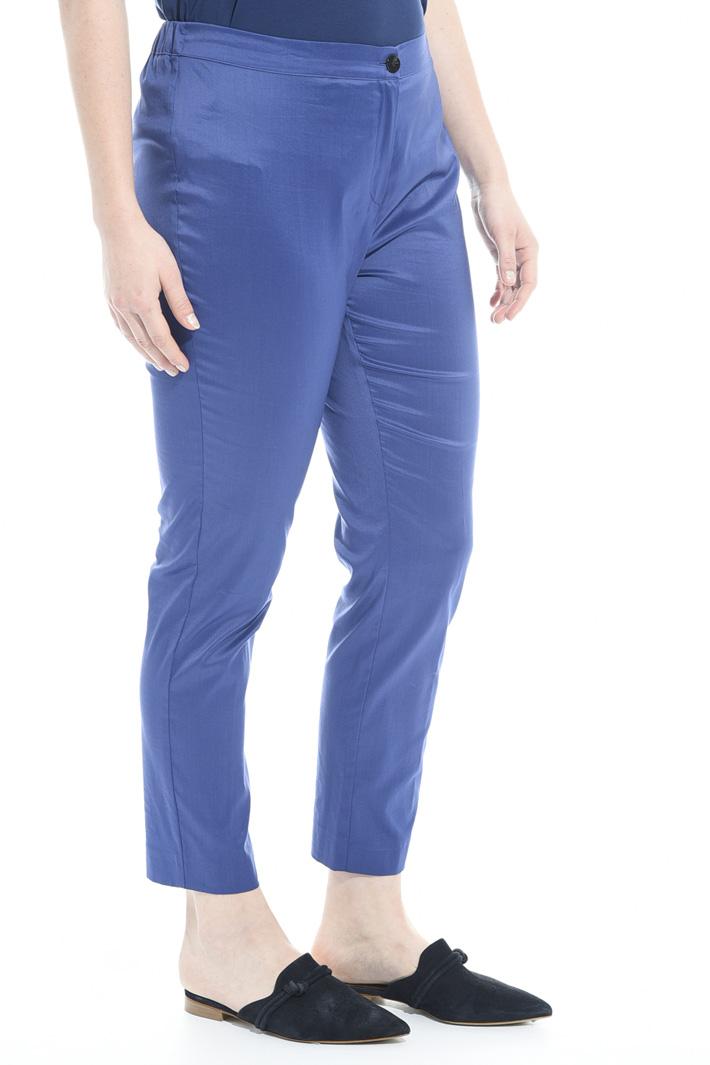 Pantaloni in cotone stretch Intrend