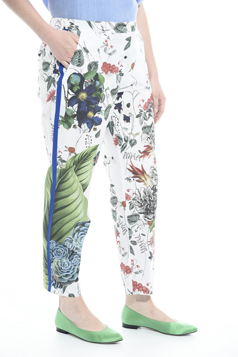 Pantaloni in popeline stampato Intrend