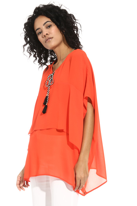 Oversized tunic in crepe fabric Intrend