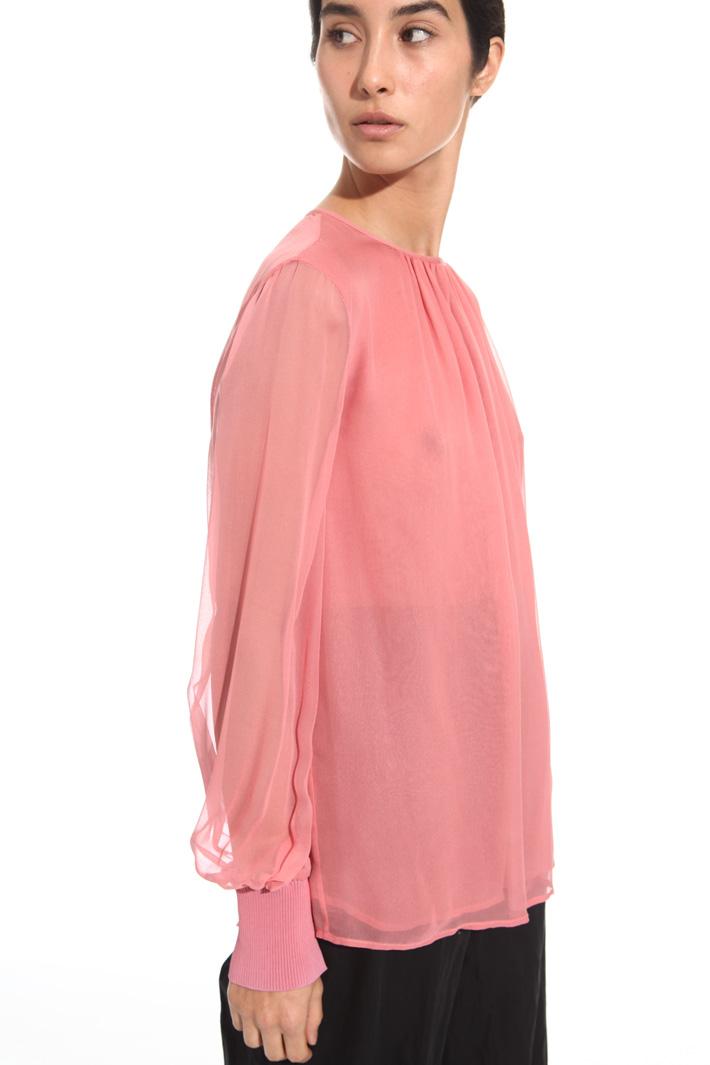 Blusa in gerogette di seta Intrend