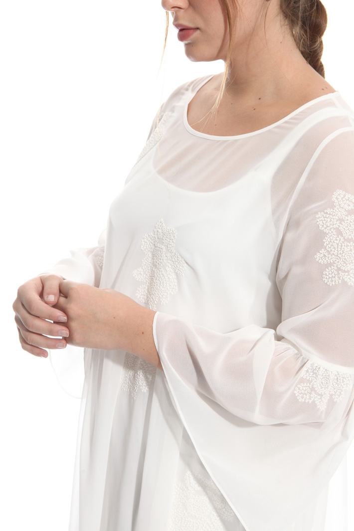 Embroidered georgette blouse Intrend