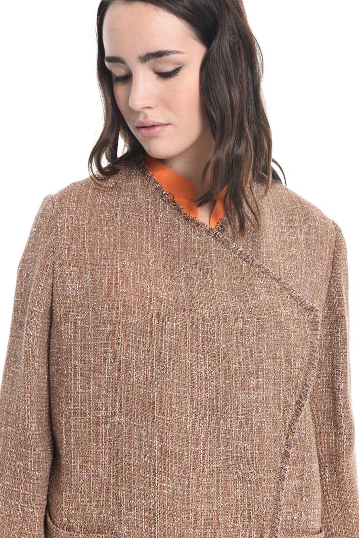 Bouclé fabric jacket  Intrend