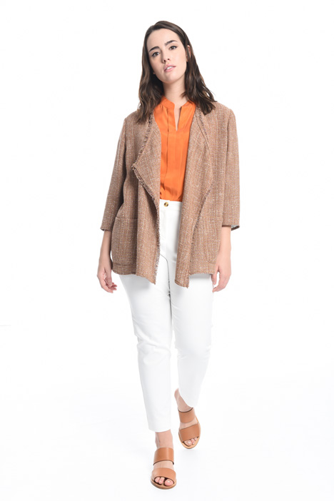 Bouclé fabric jacket  Intrend