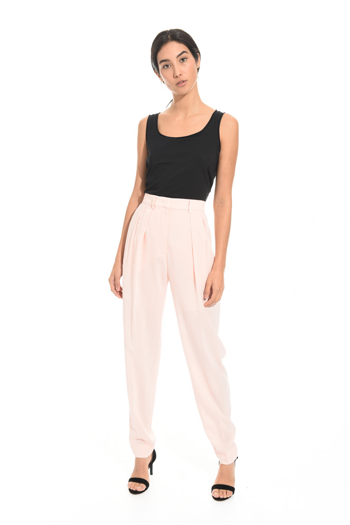 Pantalone lungo in georgette Intrend