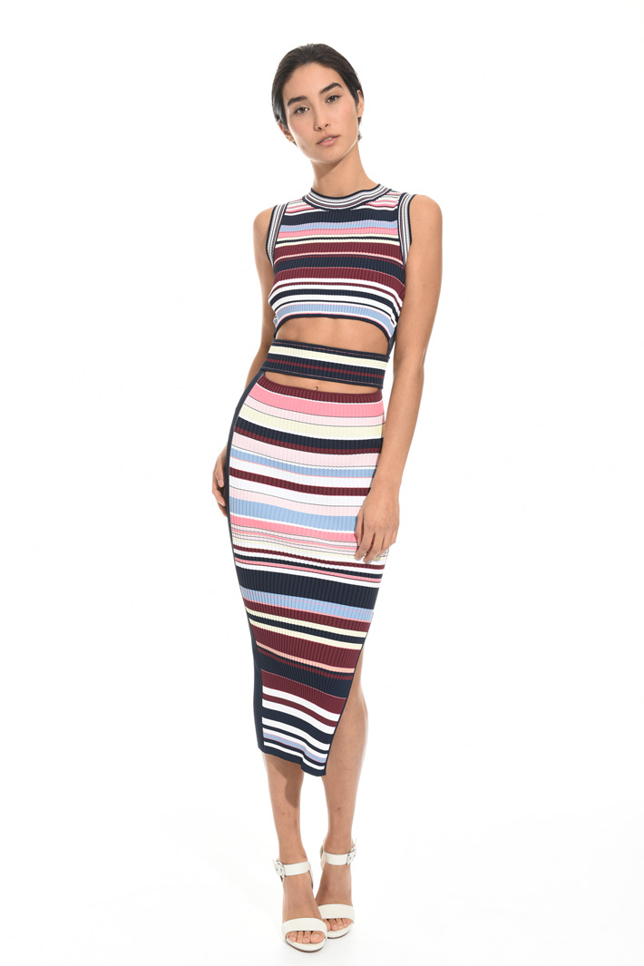 Longuette dress with cut-out Intrend