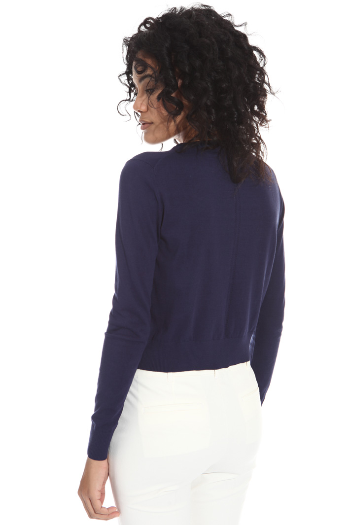 Satin trim shrug Intrend