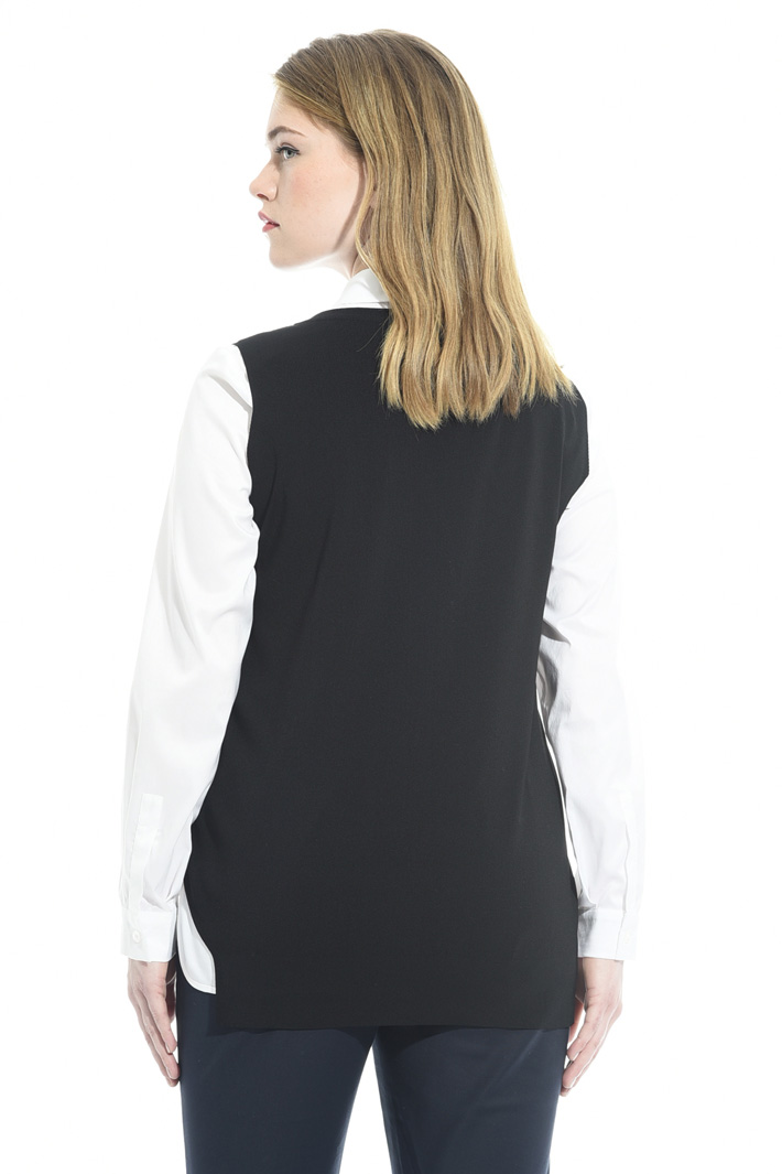 Asymmetric viscose top Intrend