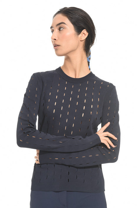 Perforated viscose sweater Intrend