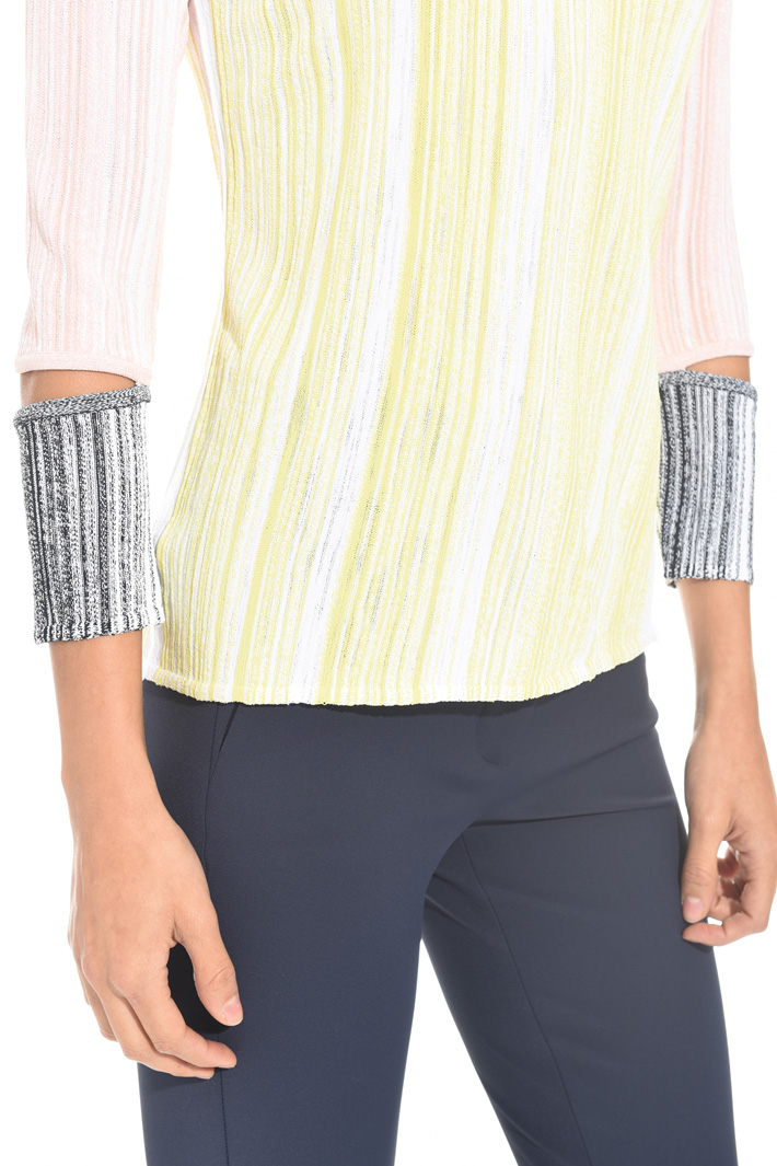 Slub viscose sweater Intrend