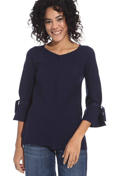 Straight fit viscose sweater Intrend