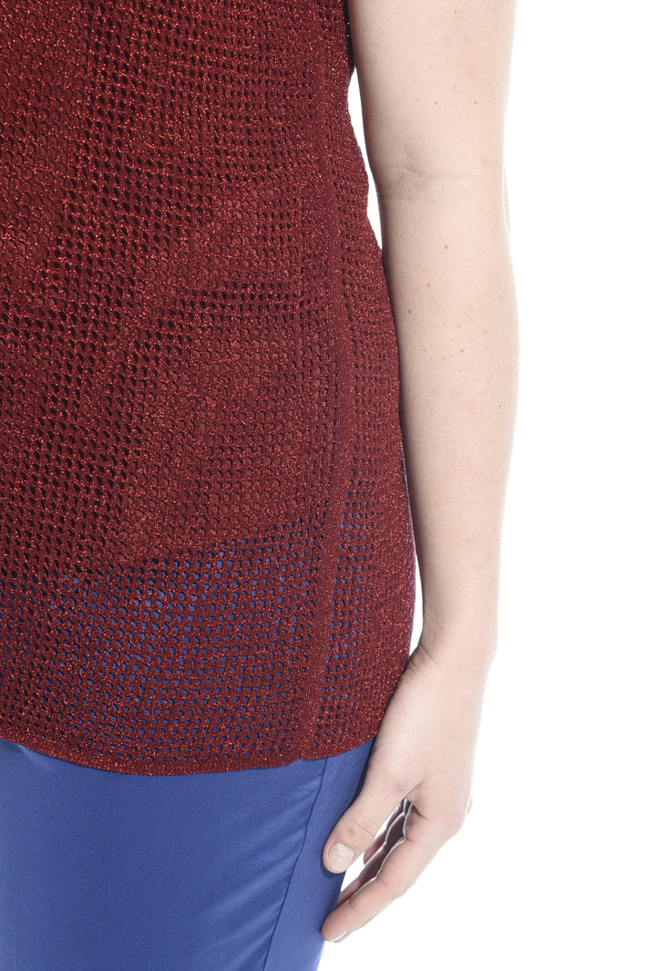 Knitted lamé top Intrend